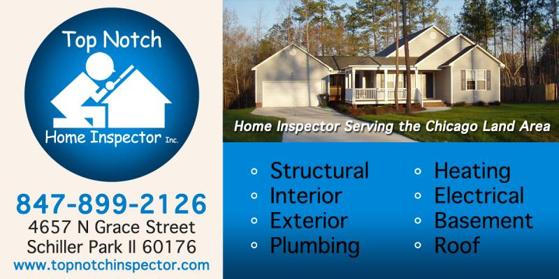 Schiller Home Inspection -Top Notch Home Inspector 4657  Grace St Schiller park Illinois 60176