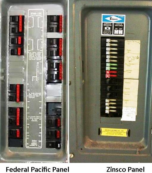 Federal Pacific & zinsco electrical panel
