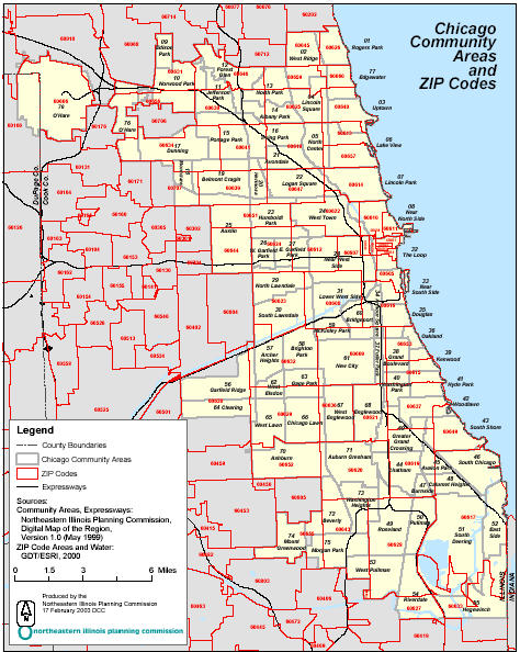 Chicago Zip Code Map